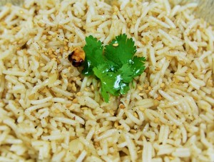 Riz au sésame grillé